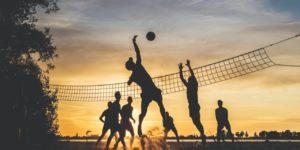 team team work volleyball team